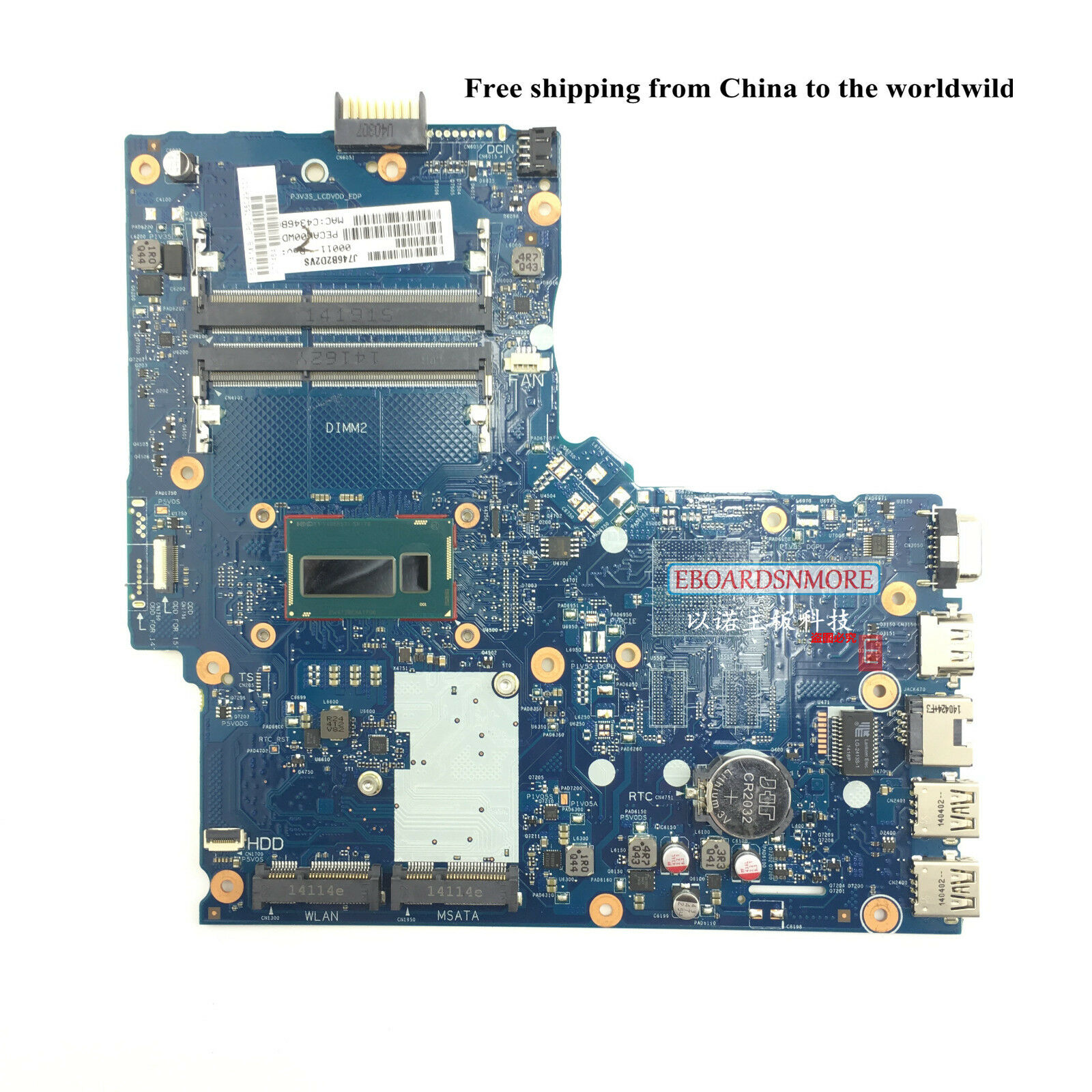 YOUKITTY for Toshiba Satellite C50 Laptop Motherboard H000062150 15 inch with E1200 CPU DDR3 Full Test